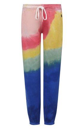 Женские хлопковые джоггеры POLO RALPH LAUREN разноцветного цвета, арт. 211838202 | Фото 1 (Женское Кросс-КТ: Джоггеры - брюки; Силуэт Ж (брюки и джинсы): Джоггеры; Материал внешний: Хлопок; Стили: Спорт-шик; Длина (брюки, джинсы): Стандартные)
