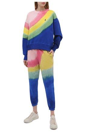 Женские хлопковые джоггеры POLO RALPH LAUREN разноцветного цвета, арт. 211838202 | Фото 2 (Женское Кросс-КТ: Джоггеры - брюки; Силуэт Ж (брюки и джинсы): Джоггеры; Материал внешний: Хлопок; Стили: Спорт-шик; Длина (брюки, джинсы): Стандартные)