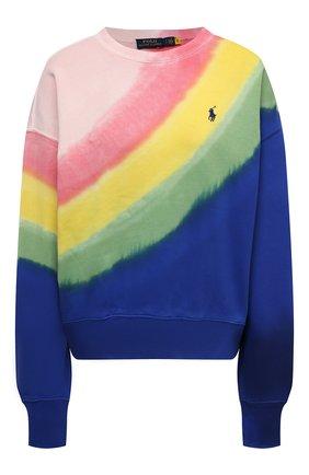 Женский хлопковый свитшот POLO RALPH LAUREN разноцветного цвета, арт. 211838148   Фото 1