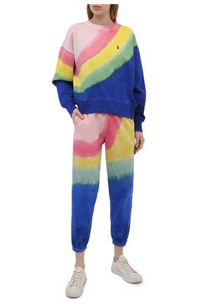 Женский хлопковый свитшот POLO RALPH LAUREN разноцветного цвета, арт. 211838148   Фото 2