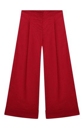Детские хлопковые брюки MONNALISA красного цвета, арт. 177400R1 | Фото 1