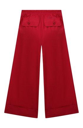 Детские хлопковые брюки MONNALISA красного цвета, арт. 177400R1 | Фото 2