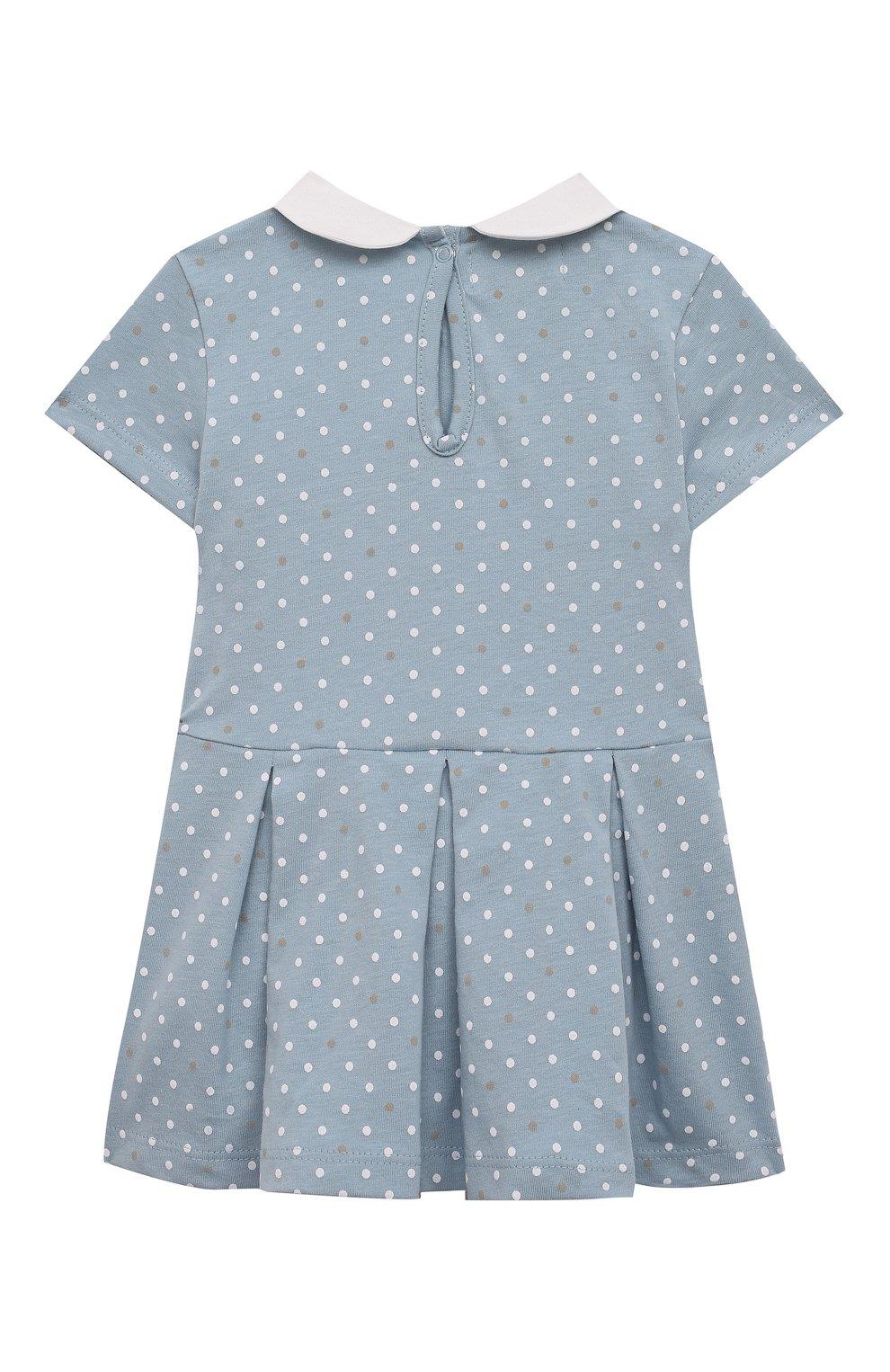 Детское хлопковое платье SANETTA FIFTYSEVEN голубого цвета, арт. 906942. | Фото 2