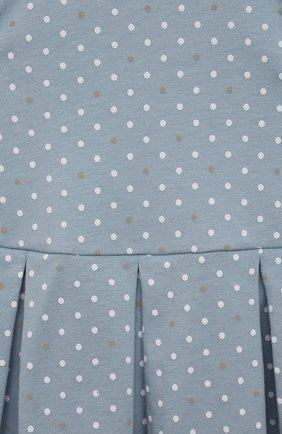 Детское хлопковое платье SANETTA FIFTYSEVEN голубого цвета, арт. 906942. | Фото 3