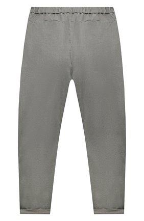 Детские хлопковые брюки BRUNELLO CUCINELLI серого цвета, арт. B289LP101B   Фото 2