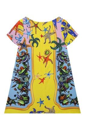 Детское платье из вискозы VERSACE разноцветного цвета, арт. 1000597/1A00417/8A-14A | Фото 2