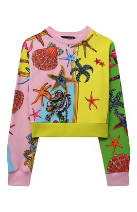 Детский хлопковый свитшот VERSACE разноцветного цвета, арт. 1000491/1A00421/8A-14A | Фото 1
