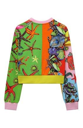 Детский хлопковый свитшот VERSACE разноцветного цвета, арт. 1000491/1A00421/8A-14A | Фото 2