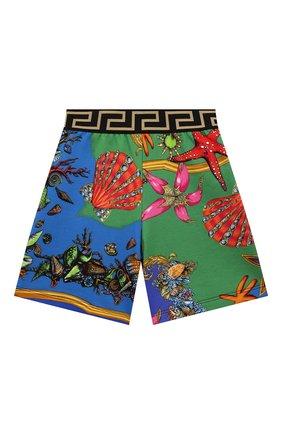 Детские хлопковые шорты VERSACE разноцветного цвета, арт. 1000124/1A00414/4A-6A | Фото 1