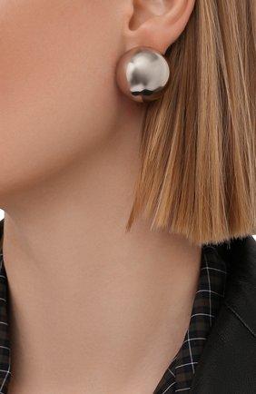 Женские серьги BALENCIAGA серебряного цвета, арт. 659437/TZ322 | Фото 2
