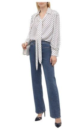 Женские кожаные туфли cedella RALPH LAUREN синего цвета, арт. 800841335 | Фото 2 (Подошва: Плоская; Материал внутренний: Натуральная кожа; Каблук высота: Высокий; Каблук тип: Шпилька)