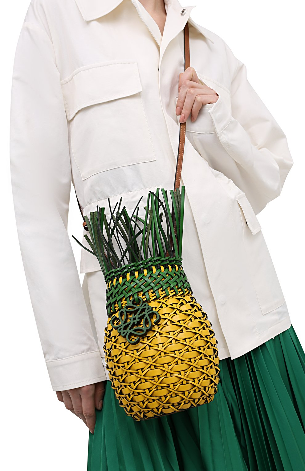 Женская сумка fruit loewe x paula's ibiza LOEWE желтого цвета, арт. A879P62X01 | Фото 2