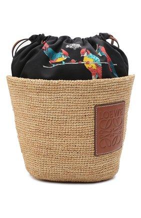 Женская сумка basket loewe x paula's ibiza LOEWE бежевого цвета, арт. A689C70X04 | Фото 1