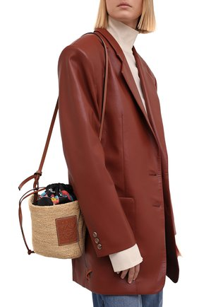Женская сумка basket loewe x paula's ibiza LOEWE бежевого цвета, арт. A689C70X04 | Фото 2