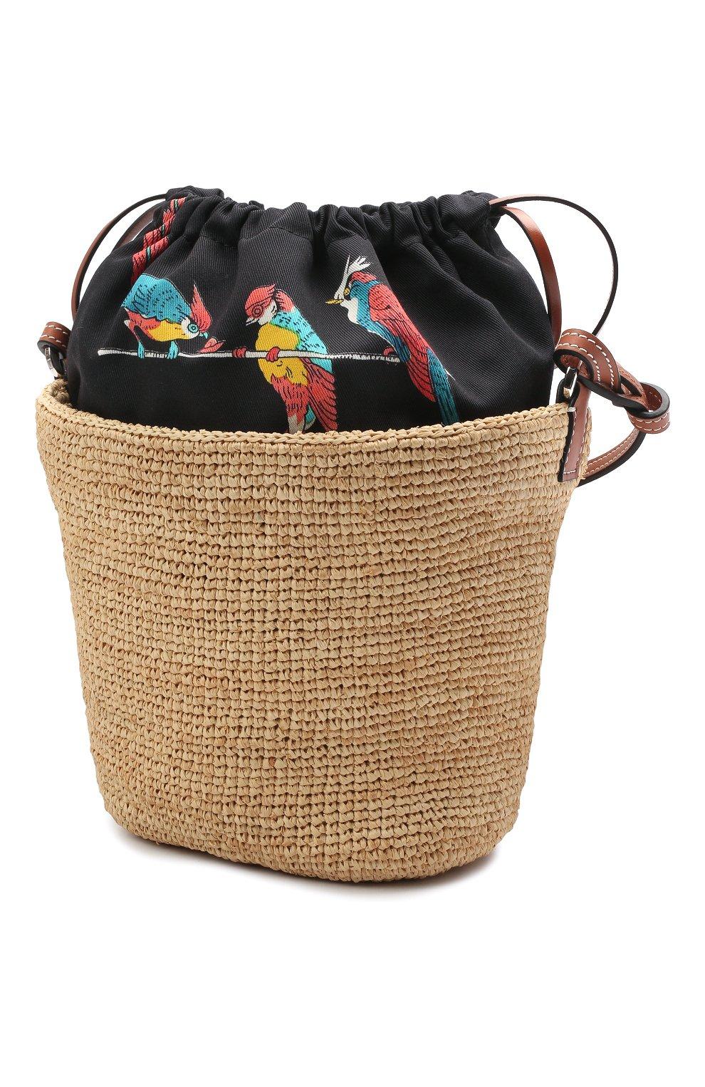 Женская сумка basket loewe x paula's ibiza LOEWE бежевого цвета, арт. A689C70X04 | Фото 3