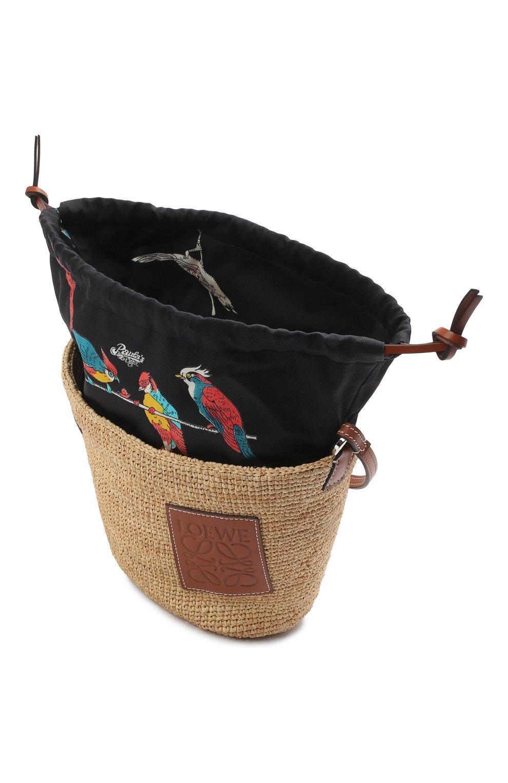 Женская сумка basket loewe x paula's ibiza LOEWE бежевого цвета, арт. A689C70X04 | Фото 4