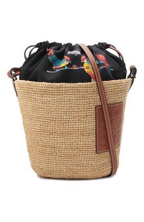 Женская сумка basket loewe x paula's ibiza LOEWE бежевого цвета, арт. A689C70X04 | Фото 5