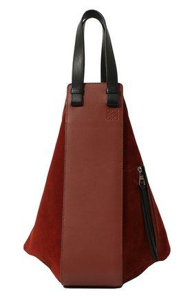Женская сумка hammock LOEWE бордового цвета, арт. A538H02X01 | Фото 1