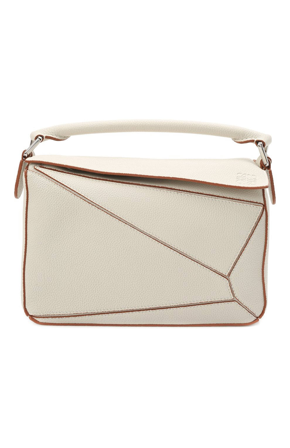 Женская сумка puzzle small LOEWE белого цвета, арт. A510S21X67 | Фото 1
