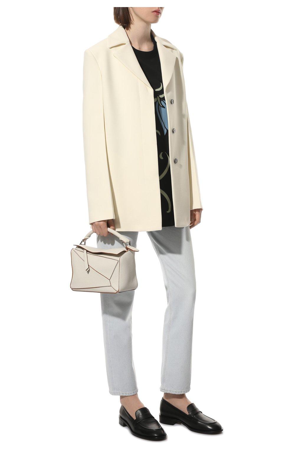 Женская сумка puzzle small LOEWE белого цвета, арт. A510S21X67 | Фото 3