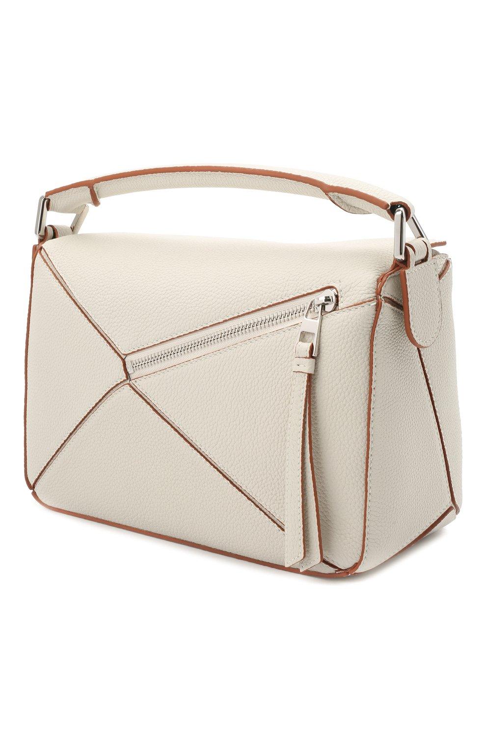 Женская сумка puzzle small LOEWE белого цвета, арт. A510S21X67 | Фото 4