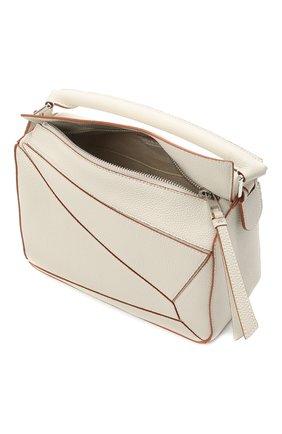 Женская сумка puzzle small LOEWE белого цвета, арт. A510S21X67 | Фото 5