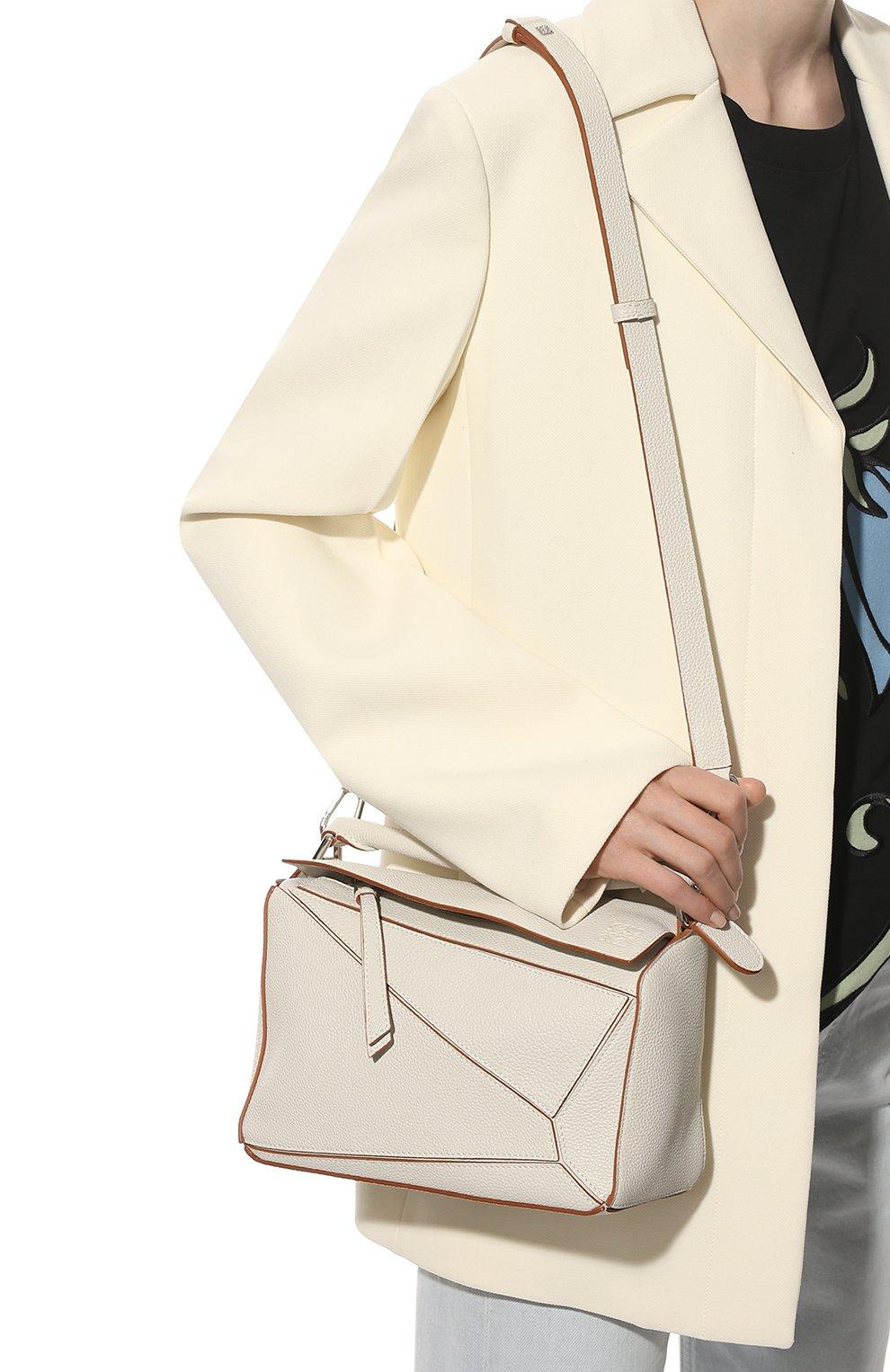 Женская сумка puzzle small LOEWE белого цвета, арт. A510S21X67 | Фото 6