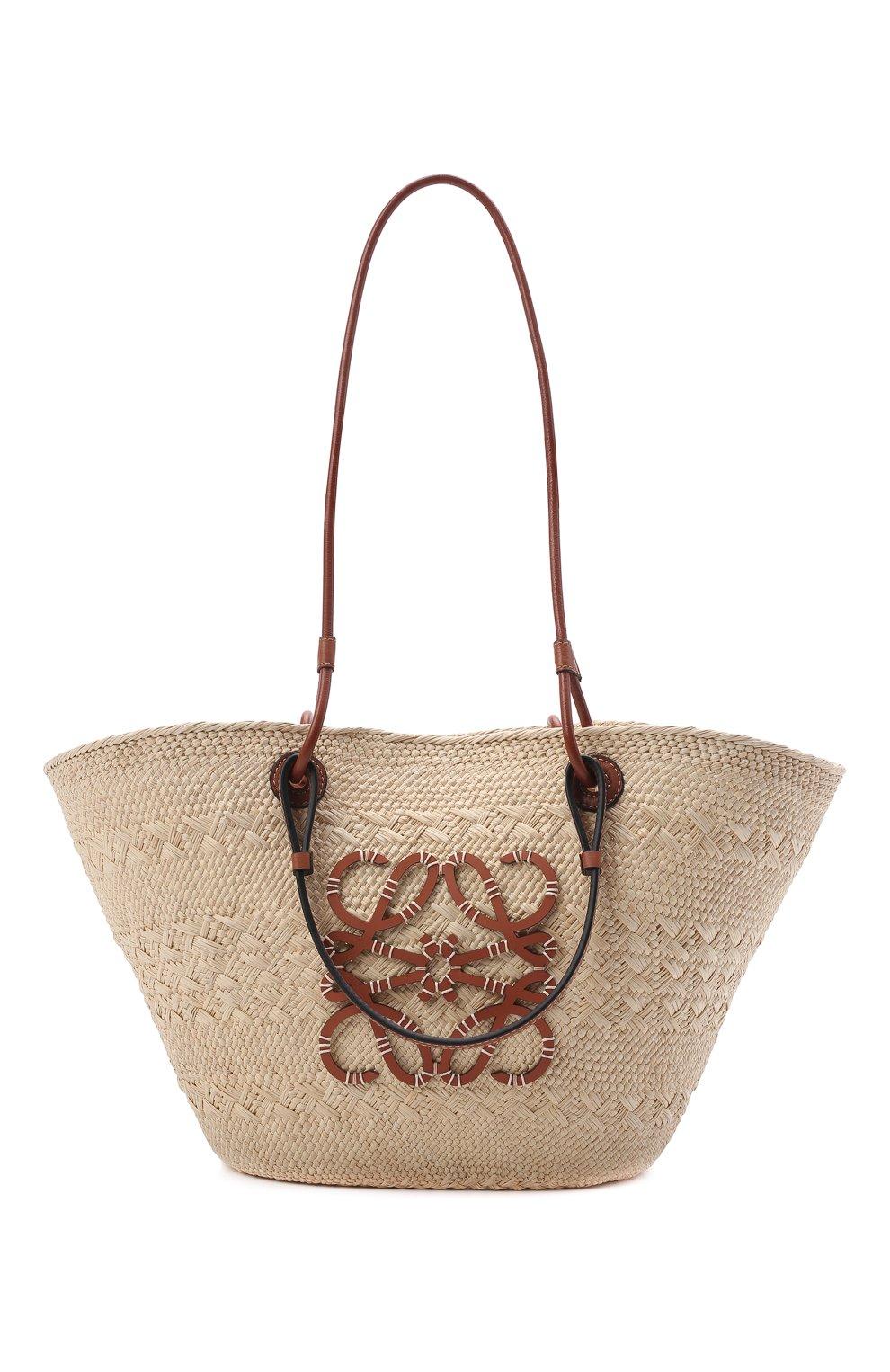 Женский сумка basket loewe x paula's ibiza LOEWE бежевого цвета, арт. A223T43X02 | Фото 1