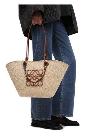 Женский сумка basket loewe x paula's ibiza LOEWE бежевого цвета, арт. A223T43X02 | Фото 2