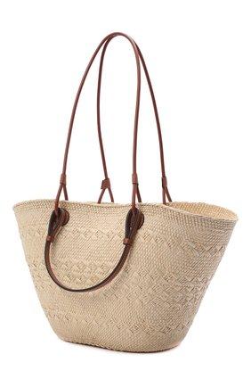 Женский сумка basket loewe x paula's ibiza LOEWE бежевого цвета, арт. A223T43X02 | Фото 3