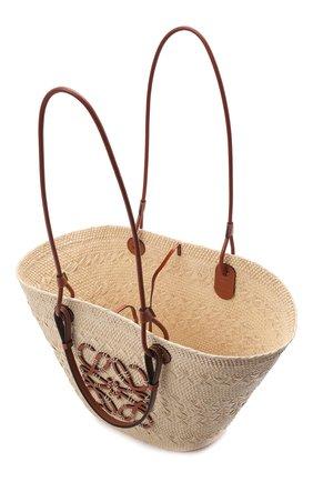 Женский сумка basket loewe x paula's ibiza LOEWE бежевого цвета, арт. A223T43X02 | Фото 4