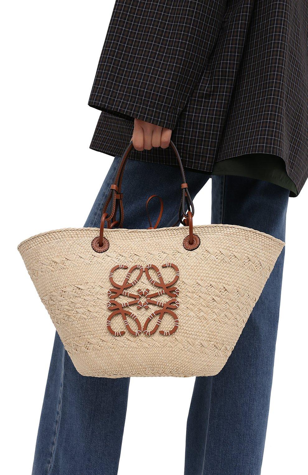 Женский сумка basket loewe x paula's ibiza LOEWE бежевого цвета, арт. A223T43X02 | Фото 5