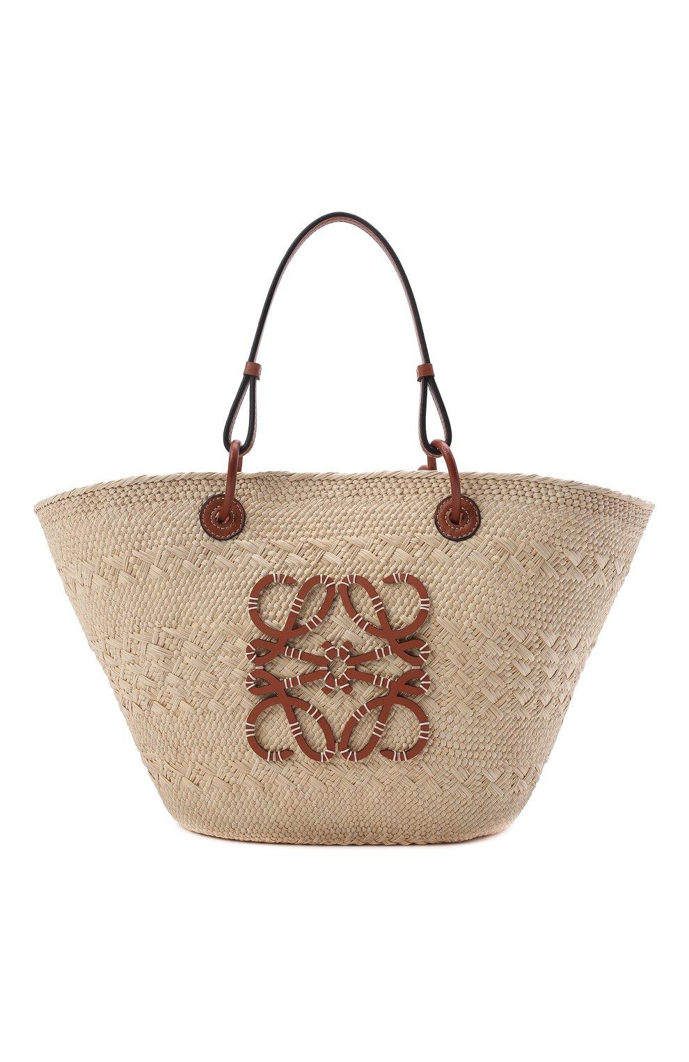 Женский сумка basket loewe x paula's ibiza LOEWE бежевого цвета, арт. A223T43X02 | Фото 6