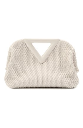 Женская сумка point small BOTTEGA VENETA белого цвета, арт. 661986/V0TB1 | Фото 1 (Материал: Натуральная кожа; Сумки-технические: Сумки top-handle, Сумки через плечо; Ремень/цепочка: На ремешке; Размер: small)