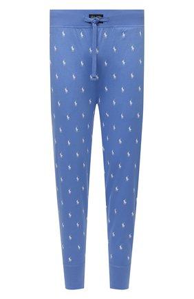 Мужские хлопковые домашние джоггеры POLO RALPH LAUREN синего цвета, арт. 714830279 | Фото 1 (Мужское Кросс-КТ: Брюки-белье; Материал внешний: Хлопок; Кросс-КТ: домашняя одежда; Длина (брюки, джинсы): Стандартные)