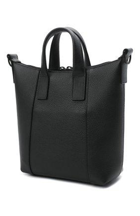 Мужская кожаная сумка-тоут hourglass BALENCIAGA черного цвета, арт. 644718/15Y37 | Фото 3