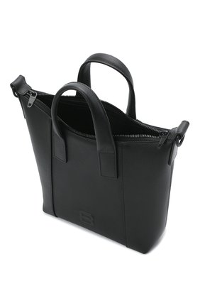 Мужская кожаная сумка-тоут hourglass BALENCIAGA черного цвета, арт. 644718/15Y37 | Фото 4