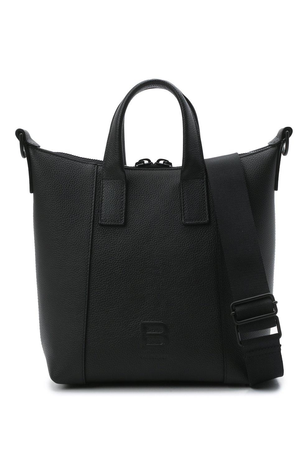 Мужская кожаная сумка-тоут hourglass BALENCIAGA черного цвета, арт. 644718/15Y37 | Фото 6