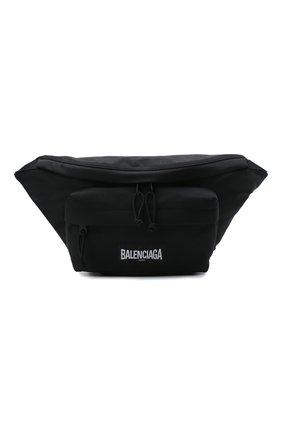 Мужская текстильная поясная сумка oversized xxl BALENCIAGA черного цвета, арт. 656062/2JMRX   Фото 1