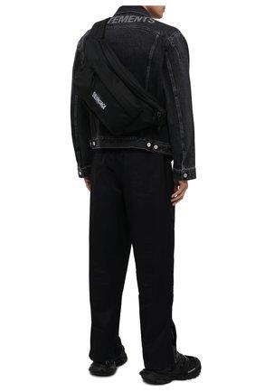 Мужская текстильная поясная сумка oversized xxl BALENCIAGA черного цвета, арт. 656062/2JMRX   Фото 2