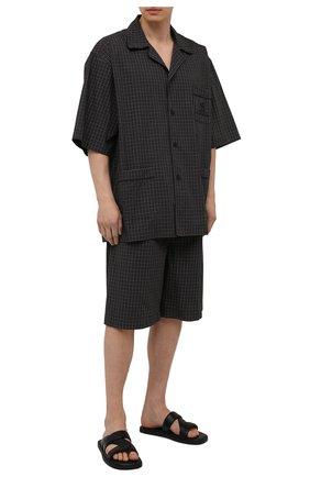 Мужские хлопковые шорты BALENCIAGA хаки цвета, арт. 658413/TKM34 | Фото 2