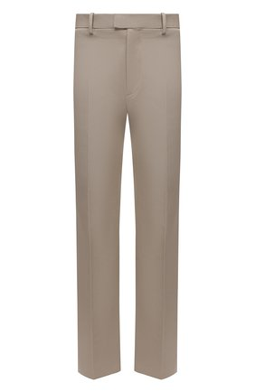 Мужские хлопковые брюки BOTTEGA VENETA бежевого цвета, арт. 657796/V0BT0 | Фото 1 (Длина (брюки, джинсы): Стандартные; Стили: Минимализм; Материал внешний: Хлопок; Случай: Повседневный)