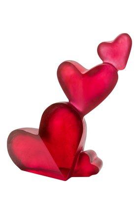 Скульптура coeur passion DAUM красного цвета, арт. 05731 | Фото 1