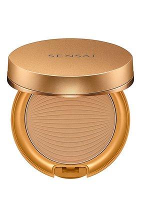 Солнцезащитная пудра bronze natural veil compact, sc03 medium SENSAI бесцветного цвета, арт. 94353   Фото 1
