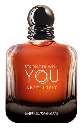 Парфюмерная вода emporio armani stronger with you absolutely GIORGIO ARMANI бесцветного цвета, арт. 3614273336383 | Фото 1