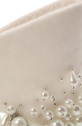 Женская бант PANFIL белого цвета, арт. 1-V8-Prl   Фото 3 (Материал: Текстиль, Шелк)