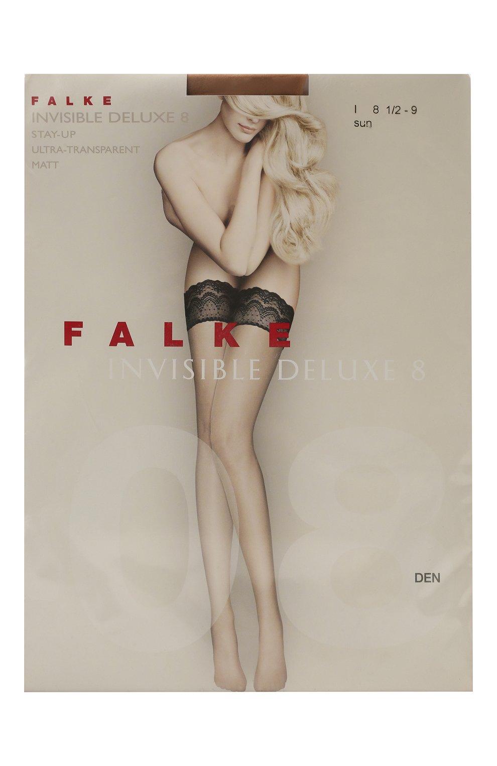 Женские чулки invisible deluxe 8 FALKE бежевого цвета, арт. 41560 | Фото 1