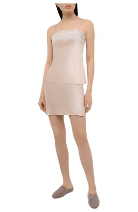 Женская шелковая сорочка MARJOLAINE светло-бежевого цвета, арт. 3MAR4003 | Фото 2