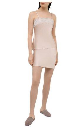 Женская шелковая юбка MARJOLAINE светло-бежевого цвета, арт. 3SOI6203 | Фото 2