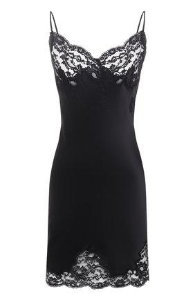 Женская шелковая сорочка MARJOLAINE черного цвета, арт. 3MAR0102 | Фото 1